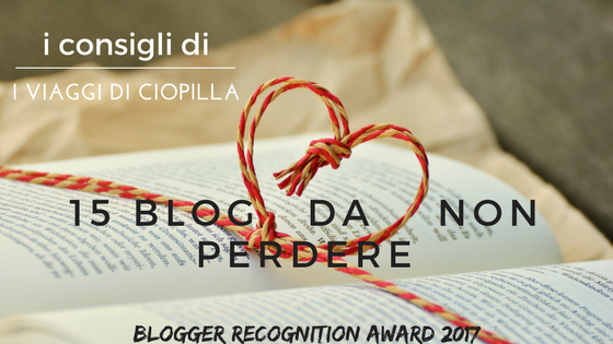 Blogger Recognition Award: