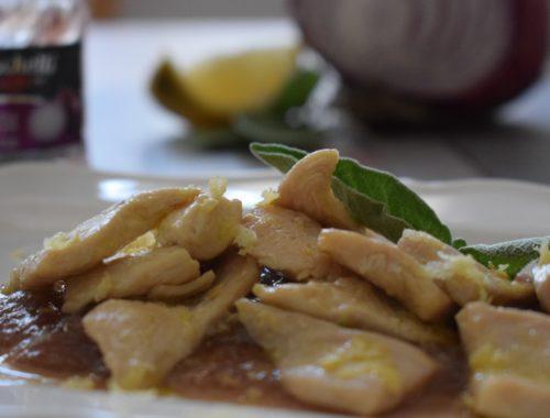 Porzione di straccetti al limone e salsa senapata